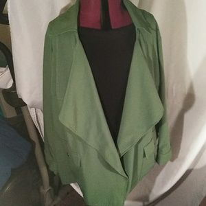 Green waterfall jacket